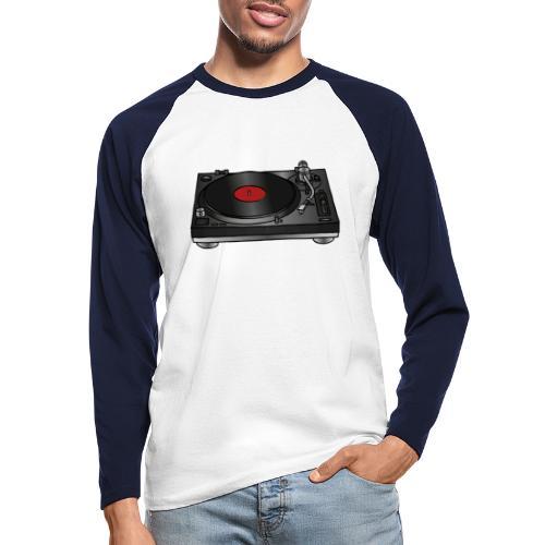 Plattenspieler VINYL - Männer Baseballshirt langarm