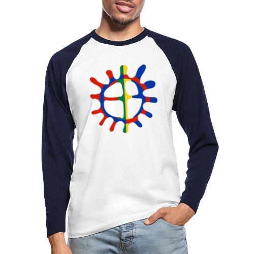 Samisk sol - Langermet baseball-skjorte for menn