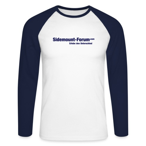 Sidemount Forum Schriftzug 1 Vektorgrafik - Männer Baseballshirt langarm