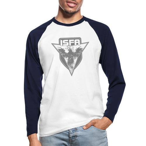 isfa logo 1c grau - Männer Baseballshirt langarm