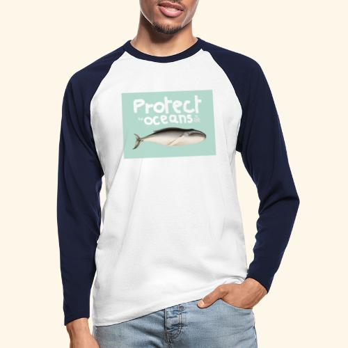 Protect the oceans - T-shirt baseball manches longues Homme