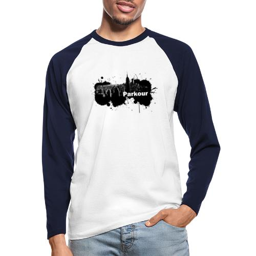 Parkour Splash New York - Langærmet herre-baseballshirt