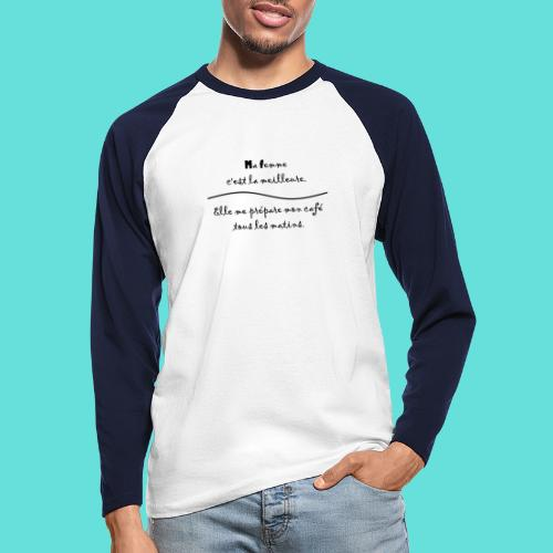 Ma Femme - T-shirt baseball manches longues Homme
