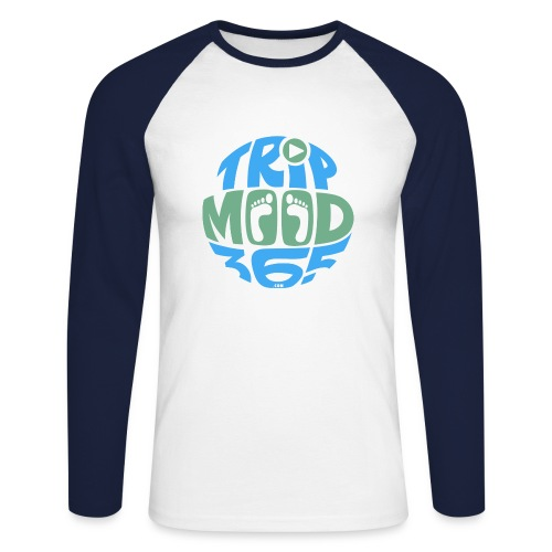 TRIPMOOD365 Traveler Clothes and Products- Colors - Miesten pitkähihainen baseballpaita