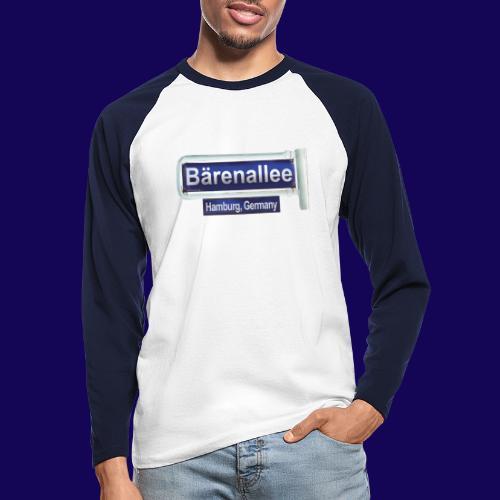 Bärenallee, altes Straßenschild Hamburg - Männer Baseballshirt langarm