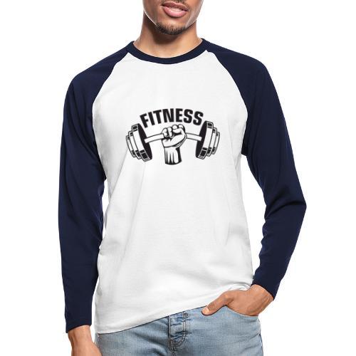 FITNESS - Langærmet herre-baseballshirt