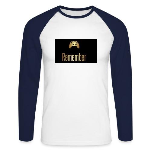 Merch Remember - Langærmet herre-baseballshirt