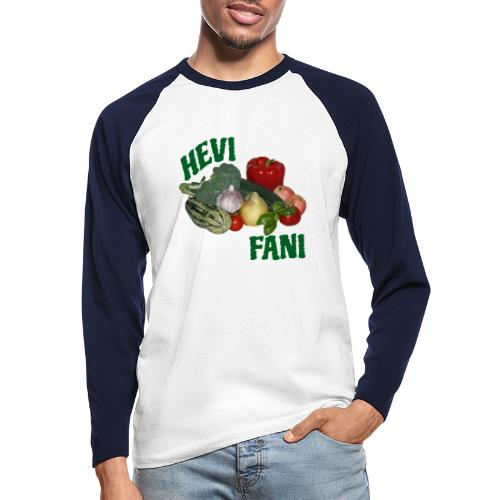 Hevi-fani - Miesten pitkähihainen baseballpaita