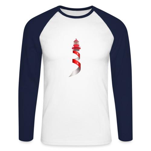 Leuchtturm - Männer Baseballshirt langarm