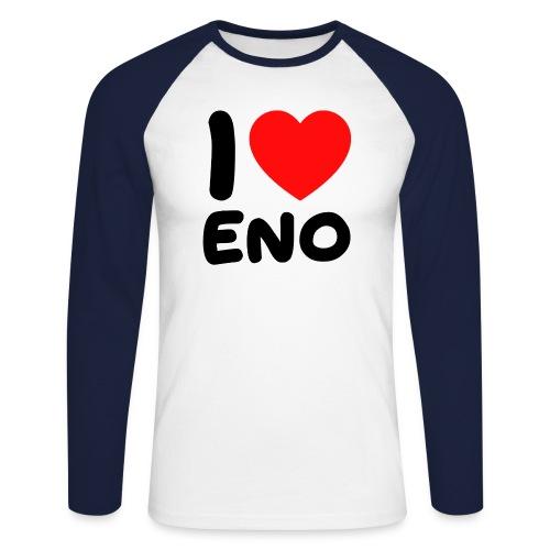 I love Eno / musta - Miesten pitkähihainen baseballpaita
