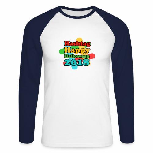 hashtag happy halloween 2018 - T-shirt baseball manches longues Homme