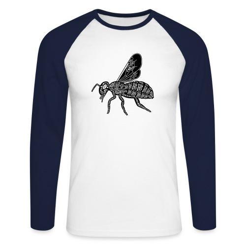 Skelett Biene - Mannen baseballshirt lange mouw