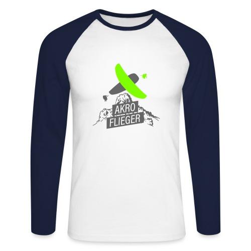 Akro Flieger Acro Paragliding - Männer Baseballshirt langarm