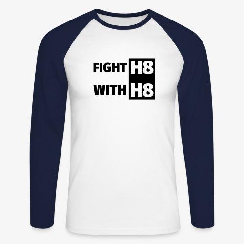FIGHTH8 dark - Men's Long Sleeve Baseball T-Shirt