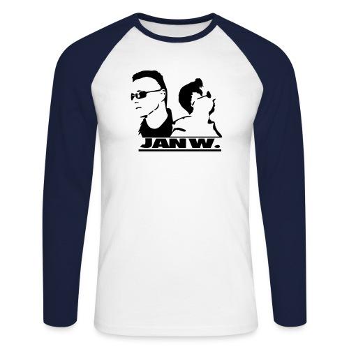 jan records2 - Männer Baseballshirt langarm