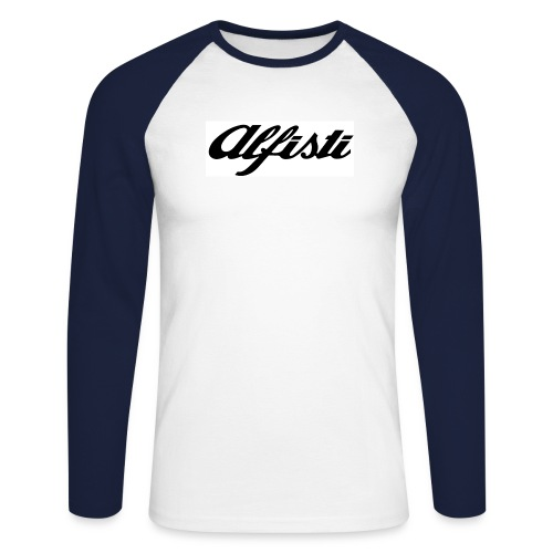 Alfisti (Big Logo) Raglan Rosso Longsleeve - Men's Long Sleeve Baseball T-Shirt