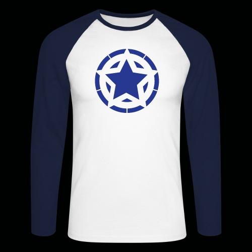 Stern Logo - Männer Baseballshirt langarm