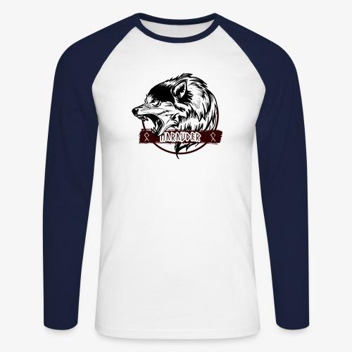MARAUDER WOLF transparant - Men's Long Sleeve Baseball T-Shirt