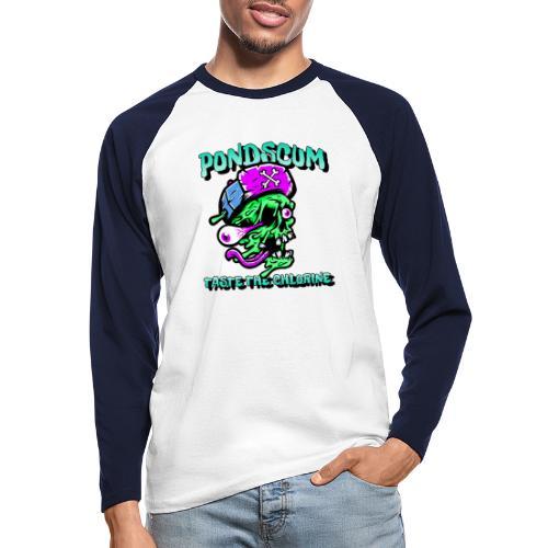 Pond Scum - Men's Long Sleeve Baseball T-Shirt