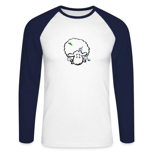 Juletre Sau - Langermet baseball-skjorte for menn