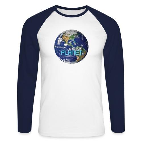 SAVE YOUR PLANET - Langærmet herre-baseballshirt