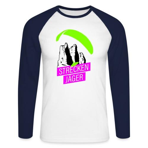 Streckenjäger Gleitschirm - Männer Baseballshirt langarm