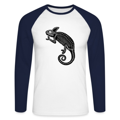 Chameleon Skeleton - Mannen baseballshirt lange mouw
