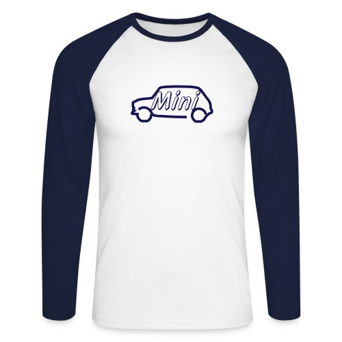 mini outline single colour - Men's Long Sleeve Baseball T-Shirt