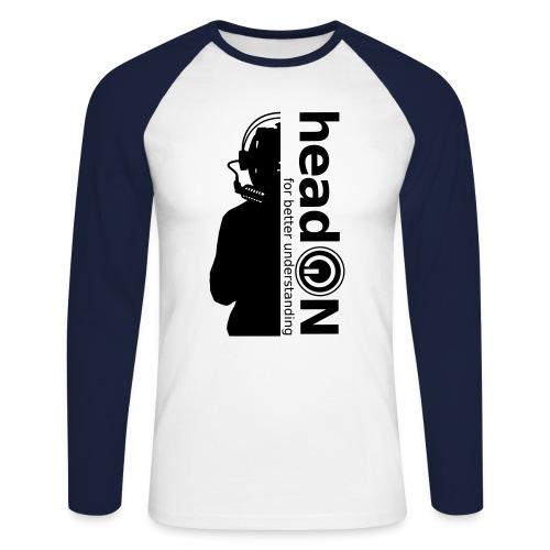 head on halber kopf schri - Männer Baseballshirt langarm
