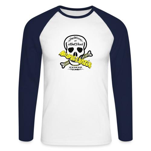 Skull gif - Männer Baseballshirt langarm