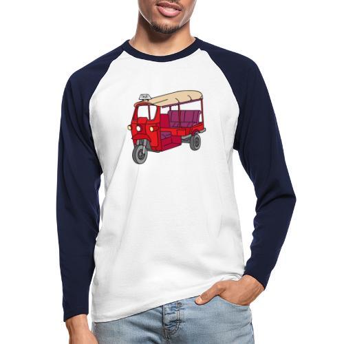 Rote Autorikscha, Tuk-tuk - Männer Baseballshirt langarm