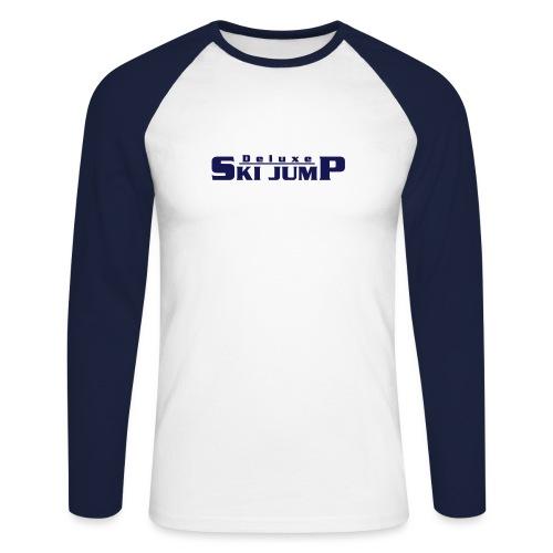 Deluxe Ski Jump - Men's Long Sleeve Baseball T-Shirt