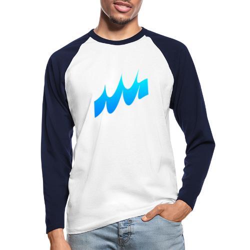 Ocean Waves or just Deep - Men's Long Sleeve Baseball T-Shirt