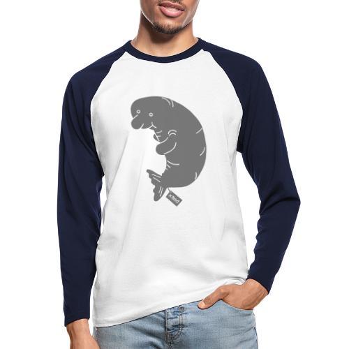 Sand/charcoal Seekuh - Riesenseekuh Langarmshirts - Männer Baseballshirt langarm