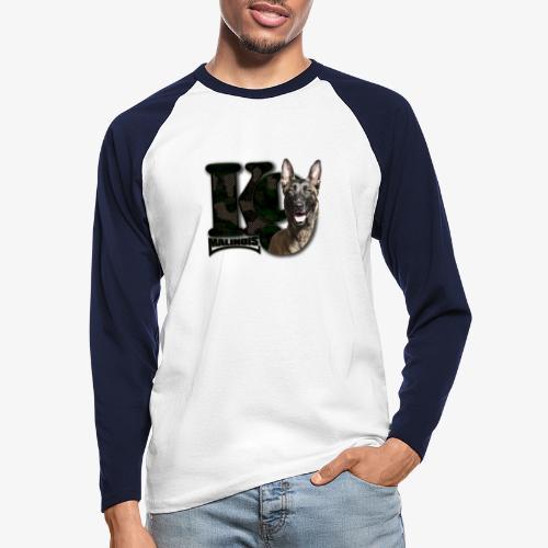 malinois k-9 - T-shirt baseball manches longues Homme
