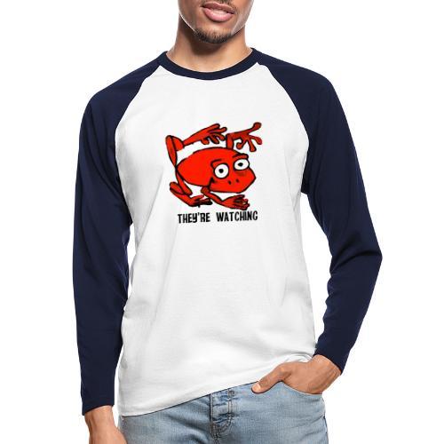 red frog - Maglia da baseball a manica lunga da uomo