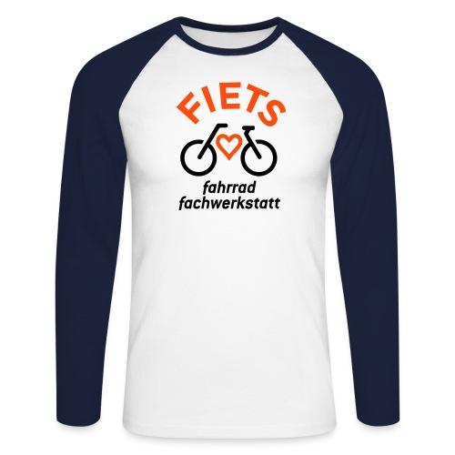 FIETS logo rond CMYK - Männer Baseballshirt langarm