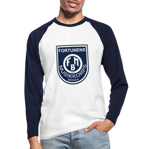 Fortunen logo - Langermet baseball-skjorte for menn