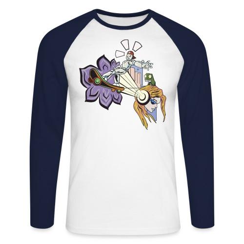 Spring Doodle - Mannen baseballshirt lange mouw