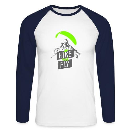 Hike and Fly Paragliding - Männer Baseballshirt langarm