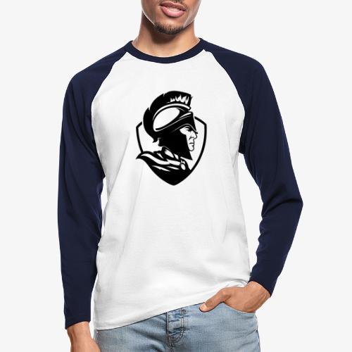 Logo svart - Långärmad basebolltröja herr