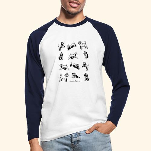 Brussels Griffon pattern - T-shirt baseball manches longues Homme