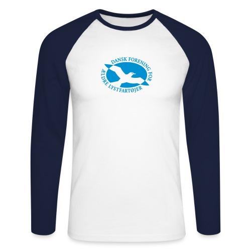 logo vector - Langærmet herre-baseballshirt