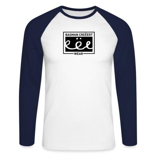 Basman Creëert eëe wear logo - Mannen baseballshirt lange mouw