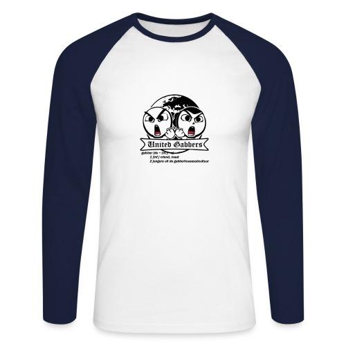 gabbers definitie - Mannen baseballshirt lange mouw
