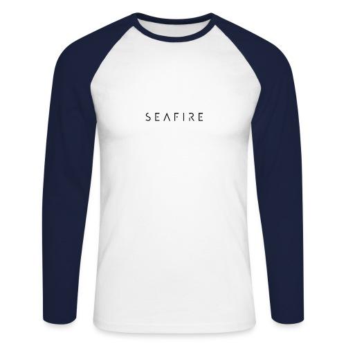 seafire logo BLACK - Mannen baseballshirt lange mouw
