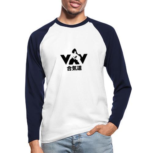 aikido zwart - Mannen baseballshirt lange mouw