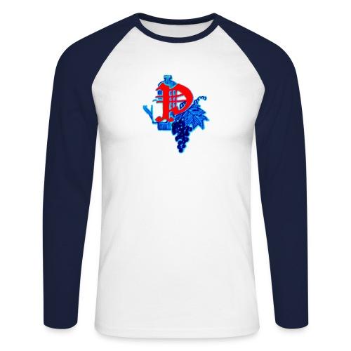Paping Dranken Blauw - Mannen baseballshirt lange mouw