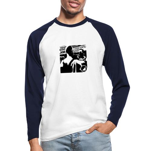 BULGEBULLFSE5 - Men's Long Sleeve Baseball T-Shirt