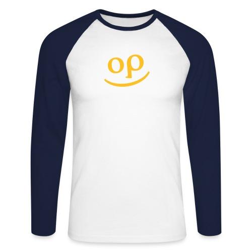 optishirtgesicht - Männer Baseballshirt langarm
